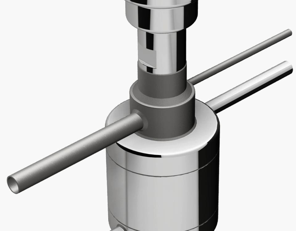 Fuellstandsmessung im Hochdruck Gasabscheider-SK2K von Aquasant