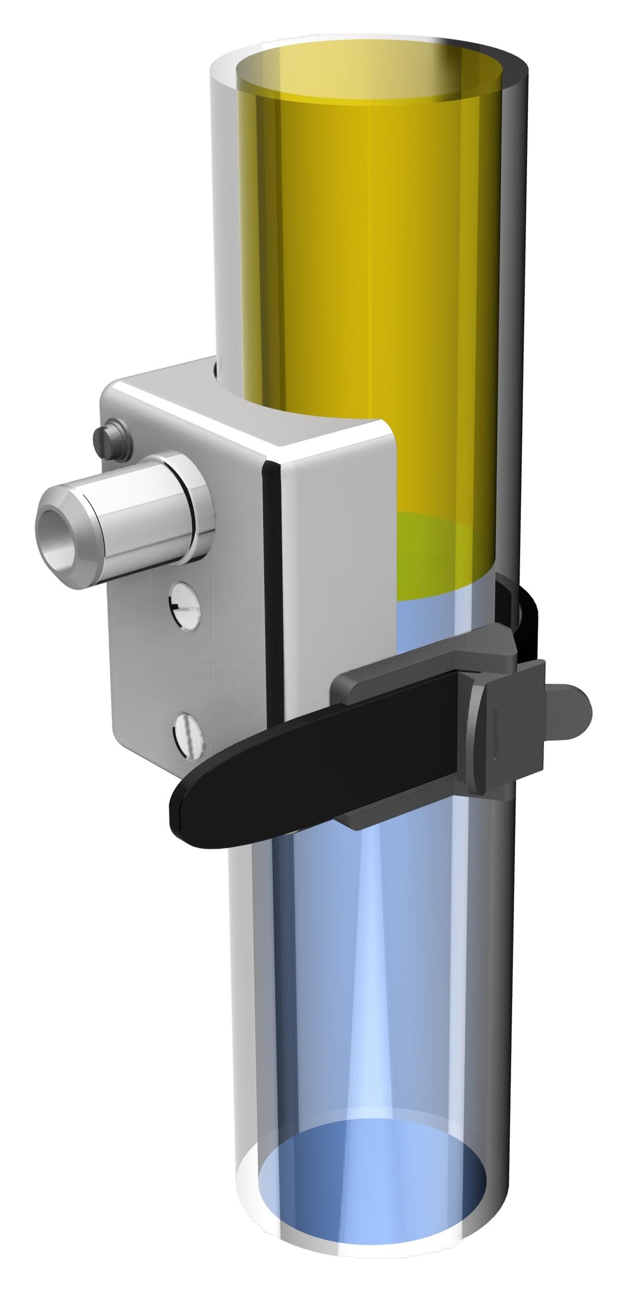 Aquasant Trennschichtmessung in Glasrohr Abscheider mit Klammer-Sonde