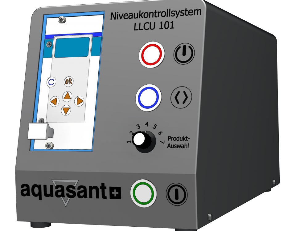 Edelstahl-Tischgehaeuse-LLCU Niveaukontrollsystem von Aquasant