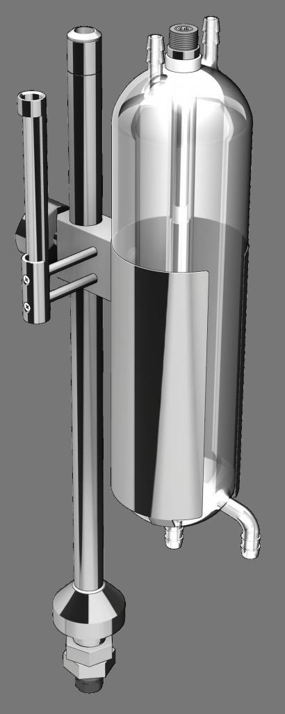 Stativ zu Glasgefäss GF-1000 mit Füllstandsmessung im steril Bereich von Aquasant