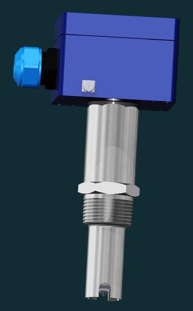 Fluessigkeitsfuehler Typ AF23-R-50-AKK-R1 für den seitlichen Einbau